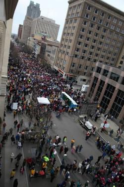Moral March crowd estimate