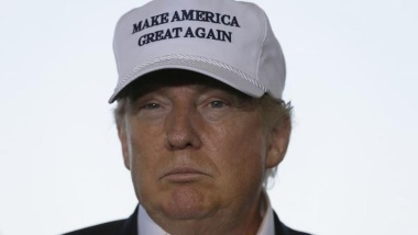 donald trump with hat