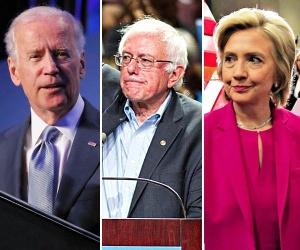 Sanders, Clinton, Biden