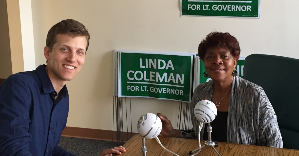 Linda Coleman with James Kotecki